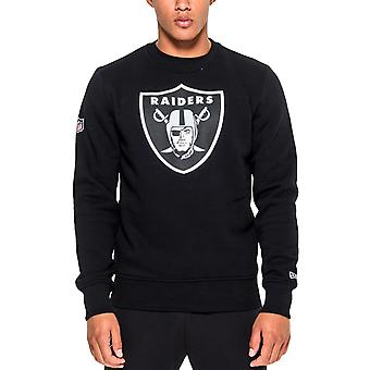 New Era Las Vegas Raiders Team Logo NFL Pullover Sweater Sweatshirt Jumper - Black