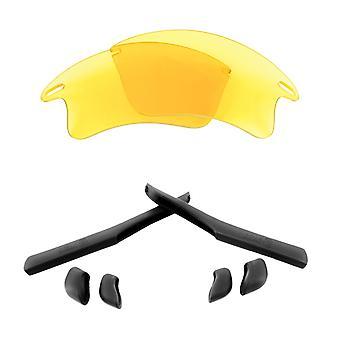 استبدال العدسات & كيت ل Oakley سترة سريعة XL الأصفر والأسود المضادة للخدش المضادة للوهج UV400 من قبل SeekOptics