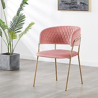 Pierre Lux Velvet Dining Chair Pink