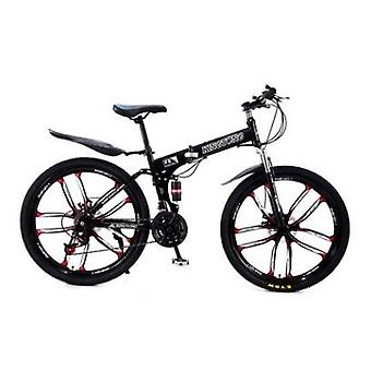 Comfortable Variable Speed Double Disc Brake Bicycle Folding Mountain Bike