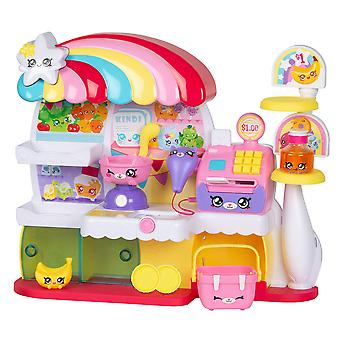 Kindi kids kitty petkin supermercato, 2 shopkin e tappetino in vinile, multicolore