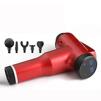 Massage Gun djup vävnad muskel slagverk Massager Bärbar 32 hastighetsjustering 5 Massage huvuden