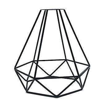 Hanging Lampshade Accessories Pendant Indoor Cage Shape Decorative (black)