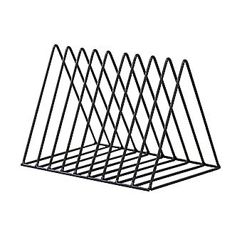Triangle Simple Wrought Iron Desktop Storage Rack Office Bookshelf Magazine