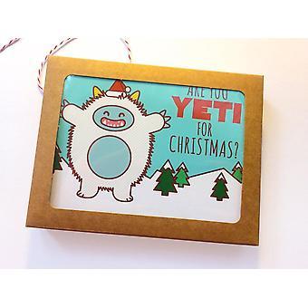 Boxed Set Of 6 Yeti Holiday Cards