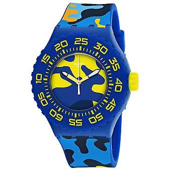 Swatch Men's Camo Blue Dial Watch - SUUN101