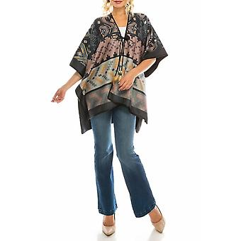 Gedruckte Fleece Reversible Poncho