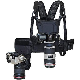 Nicama Dual Multi Camera Carrier Chest Harness Vest with Mounting Hubs