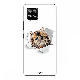 Scafo per Samsung Galaxy A42 5g in silicone flessibile 1 mm, simpatico gatto
