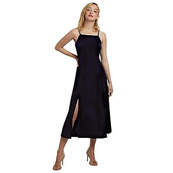 Louche Womens Lubin Velvet Midi Cami Dress Navy