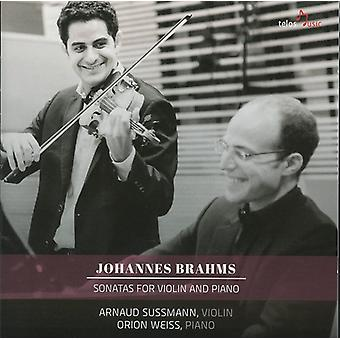 Brahms / Sussmann / Weiss - Sons for Vln & Pno [CD] USA import