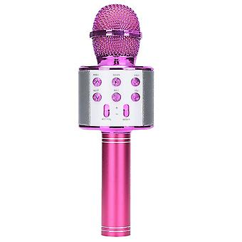 Portable Bluetooth Karaoke Microphone Wireless Professional Speaker Home Ktv