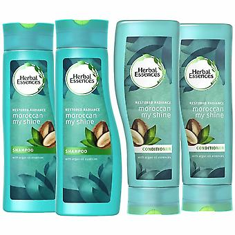 Herbal Essences Duo's Shampoo & Conditioner - 400ml, Moroccan Shine-Pack Of 2