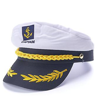 Captain Navy-marine Skipper Ship Sailor Military Nautical Hat Cap