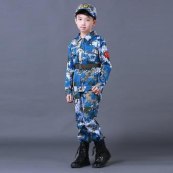 Summer Kids Army Camouflage Soldier Military Marine Costume Uniforme