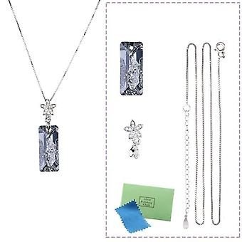 Sterling Silver Pendant Necklace Earrings Set