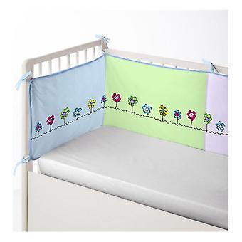 Protecteur de lit bébé Cool Kids Patch Garden (60 x 60 x 60 + 40 cm)