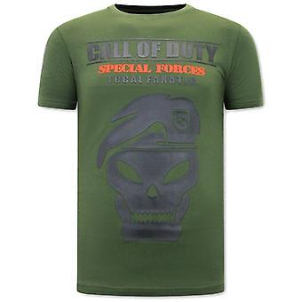 T-shirt Call of Duty - Grøn