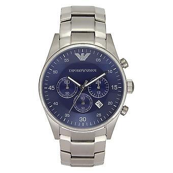 Armani Ar5860 Heren Zilver Roestvrij Stalen Horloge