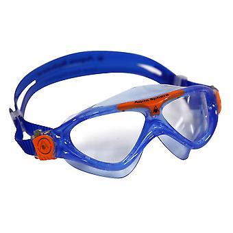 Aqua Sphere Vista Junior Swim Goggle - Clear Lens - Blue/Orange Accent