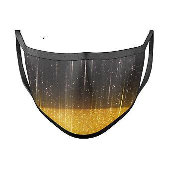Zerkratzte Oberfläche mit glühenden Gold funkeln - Made In Usa Mund Abdeckung