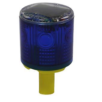Iled Solar Powered Easy Installment Warning Flashing Beacon Strobe  Light Blue