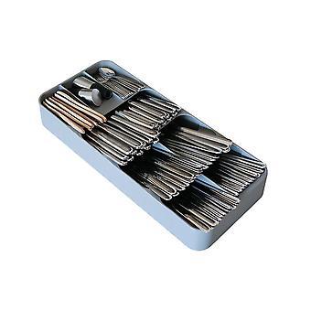 Facas plásticas Garfos Colhers Depósito Rack de armazenamento