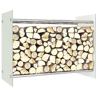 Brennholzregal Weiß 80x35x60 Cm Glas