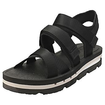 Tommy Jeans Strap Sandal Mens Platform Sandals in Black