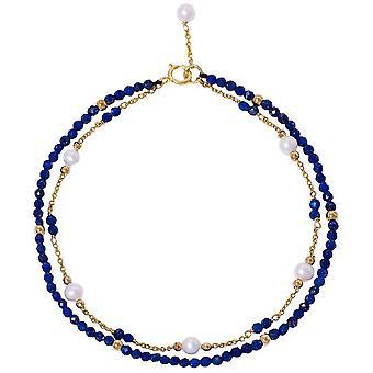 Pearls of the Orient Clara Lapis Lazuli Fine Double Chain Bracelet - Blue