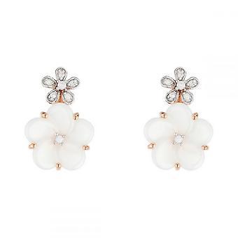 Brincos de Ouro Rosa - Diamantes de 0,07 quilates
