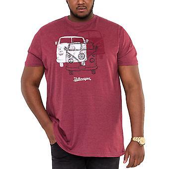 Duke D555 Mens Hughes Big Tall King Storlek Crew Neck T-Shirt Tee Top - Röd