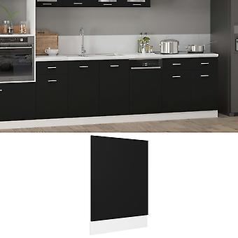 vidaXL dishwasher hood Black 45x3x67 cm chipboard