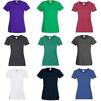 Fruit Of The Loom Dames/Dames Lady-Fit Valueweight Korte Mouw T-Shirt (Pack van 5)