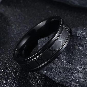 Vintage Roman Numerals Anelli uomo, Gioielli anello in acciaio inossidabile