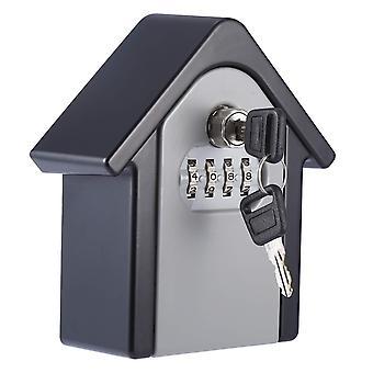 Keybox Lock Outdoor Wall Mount Combination Password Lock Hidden Storage Box