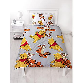 Winnie the Pooh Friends Single Duvet Cover and Pillowcase Set