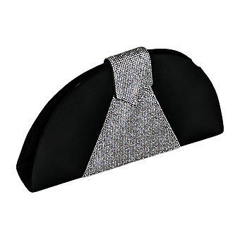 Nina Handbags Half-Moon Crystal Clutch - Bijou Black A442021