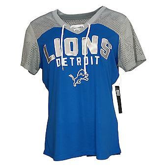 NFL Dames Top Lace Up Soft Short Sleeve T-Shirt Blauw A311204