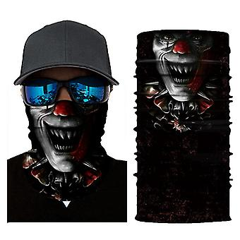 3D-geprinte clown rijden sport zonbescherming gezichtsmasker sjaal masker