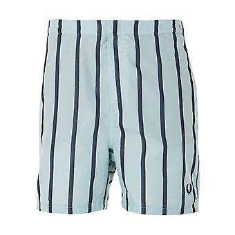 Fred Perry Striped Swim Shorts - Chalk Blue