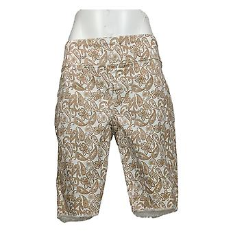DG2 by Diane Gilman Women's Shorts Stretch Pull-On Bermuda White 697721