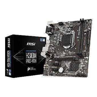 MSI H310M PRO-VDH LGA 1151 (Socket H4) Intel® H310 micro ATX