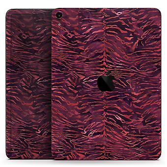 Padrão de tigre de aquarela vinho - decalque da pele do corpo inteiro para a maçã