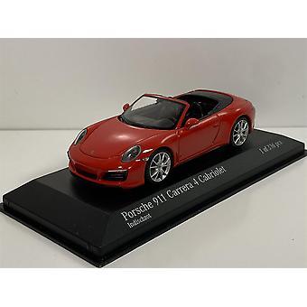 Minichamps 410067230 Porsche 911 Carrera 4S Cabriolet 2016 Red 1:43 Scale