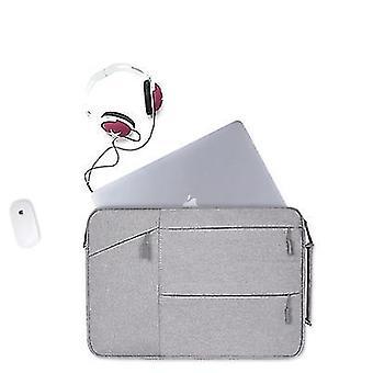 15.4Inch 38 * 27 * 3cm vaaleanharmaa 15,6 tuuman kannettava laukku Apple Macbook huaweille, hengittävä, vedenpitävä, kulutusta kestävä az12069