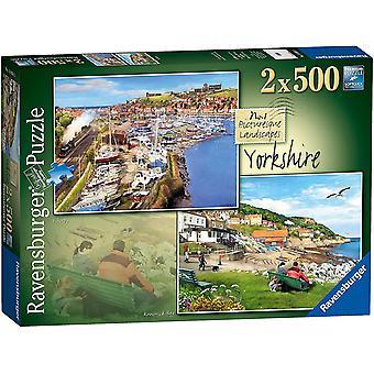 Ravensburger Picturesque Landscapes Yorkshire Jigsaw Puzzles (2 x 500 Pieces)