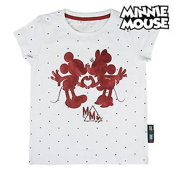Kinder Kurzarm T-Shirt Minnie Mouse Weiß