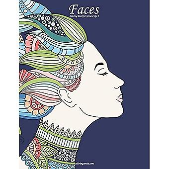 Faces Coloring Book for Grown-Ups 1: Volume 1