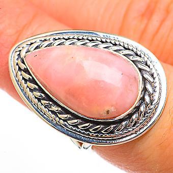 Grand rose Opale Ring Taille 7 (925 Argent Sterling) - Bijoux Boho Vintage faits à la main RING70828